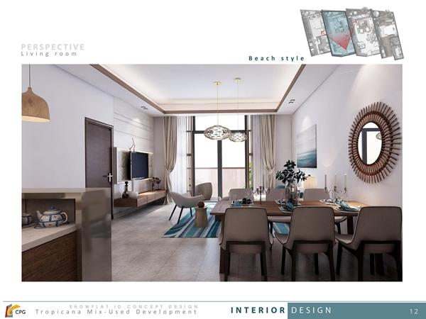 Nội thất sang chảnh của căn hộ du lịch Beau Rivage Nha Trang